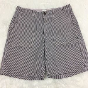 Gap Girlfriend Chino Shorts in Lavender and Blue